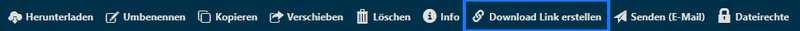 docurex: Aktionsleiste Download Link erstellen