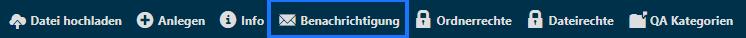 Menüleister - Ordner - Benachrichtigungen